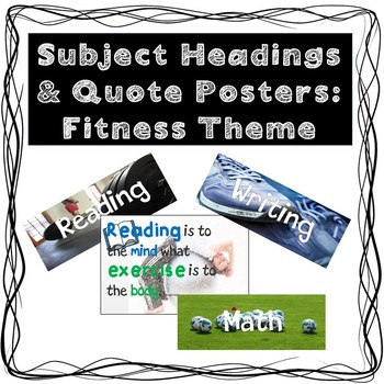 Subject Headings &  Quote Posters:  Fitness Theme
