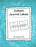 Subject Journal Labels