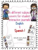Subject Journal covers in English & Spanish/ portadas para