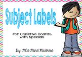 Subject Labels (Chevron)