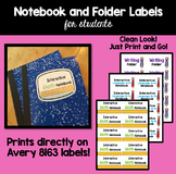 Interactive Notebook Labels
