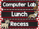 Subject Labels Bright Chalkboard Dog Theme