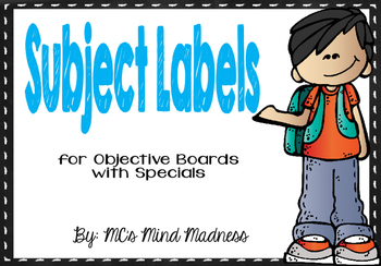 Subject Labels (Chalkboard)