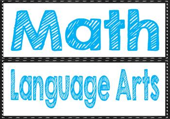 Subject Labels (Chalkboard)