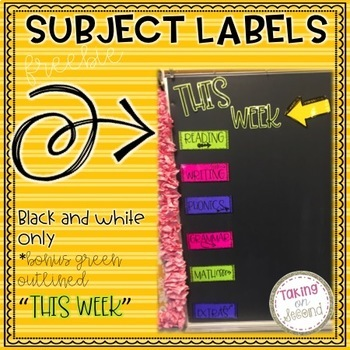 Subject Labels *Freebie*