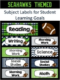 Subject Labels - Seahawk Themed - Student Learning Goals/O