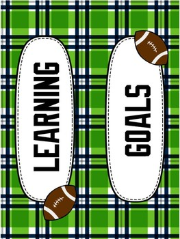 Subject Labels - Seahawk Themed - Student Learning Goals/Objectives