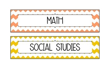 Subject Labels for Class Learning Goals