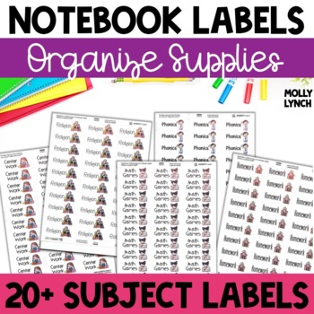 Subject Labels for Folders & Notebooks