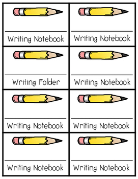 Subject Labels for Folders and Notebooks