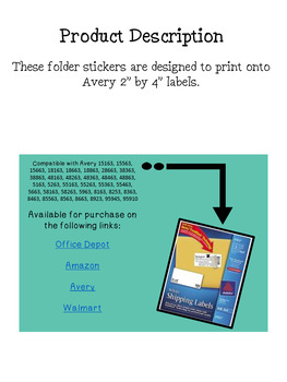 Subject Labels for Journals, Notebooks, and Folders