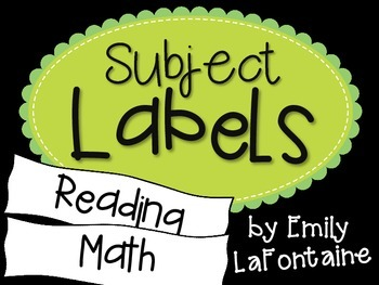 Green Subject Labels