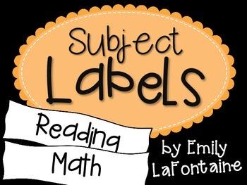 Orange Subject Labels