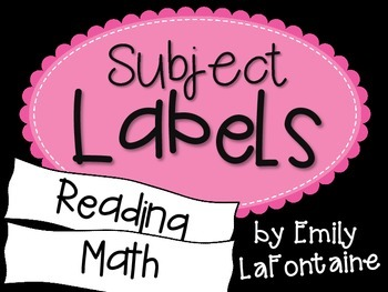 Pink Subject Labels