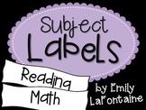Purple Subject Labels