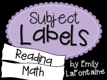 Purple Subject Labels