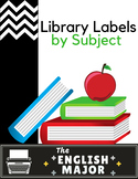 Subject - Library Labels in Black and White, Polka Dots, Stripes, Chevron