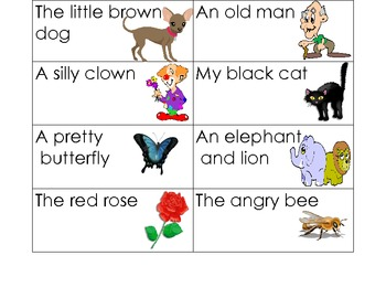 Subject (Naming) and Predicate (Telling) Making Sentences Match
