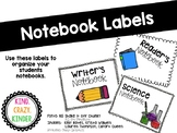 Subject Notebook Labels