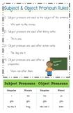 Subject & Object Pronoun Rules Poster