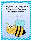 Subject, Object, and Possessive Pronoun Game