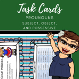 Subject Object and Possessive Pronoun Task Cards