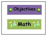 Subject Objectives Labels