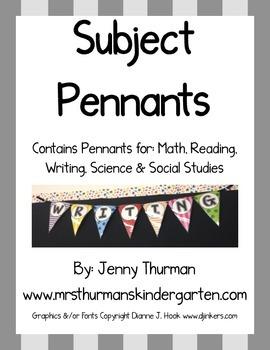 Subject Pennants