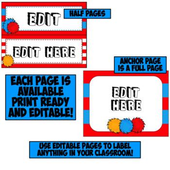 Editable Subject Posters | Reading | Whimsical Theme Classroom Decor