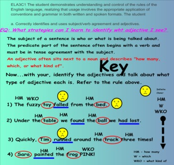 Subject-Predicate Agreement and Adjective Drill