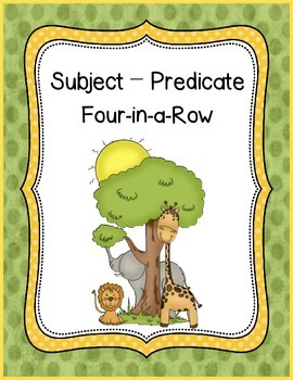 Subject-Predicate Four in a Row