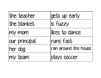 Subject Predicate Game