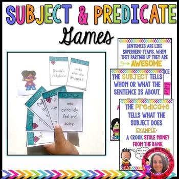 Subject & Predicate Games + Posters