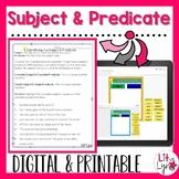 Digital Subject & Predicate Interactive Activities