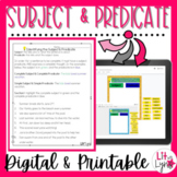 Digital Subject & Predicate Activities | DISTANCE LEARNING