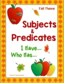 Subjects and Predicates I Have Who Has Game - Fall Theme