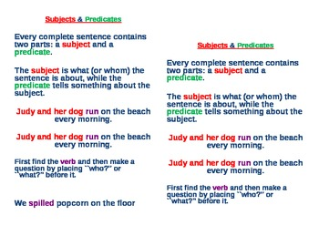 Subject Predicate Journal Notes