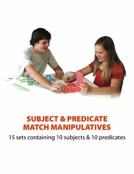 Subject & Predicate Match Manipulatives