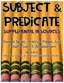 Subject Predicate Supplemental Resources