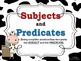 Subject & Predicate POSTERS for the Classroom: Cow Theme