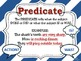 Subject & Predicate POSTERS for the Classroom: Stripe Theme