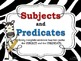 Subject & Predicate POSTERS for the Classroom: Zebra Theme