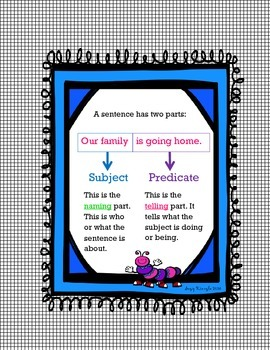 Subject Predicate Parts of a Sentence