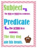 Subject/ Predicate Poster