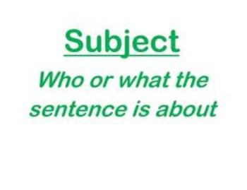 Subject & Predicate PowerPoint