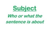 Subject & Predicate PowerPoint