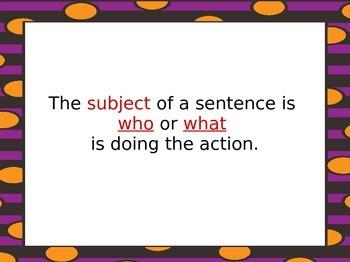 Subject/Predicate Powerpoint