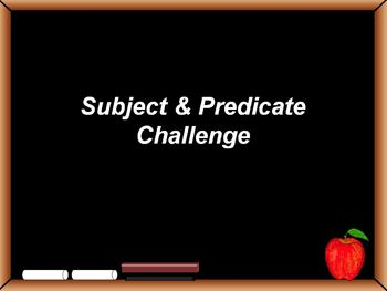 Subject & Predicate Powerpoint Game