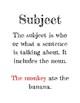 Subject & Predicate Quiz & Mini-Posters