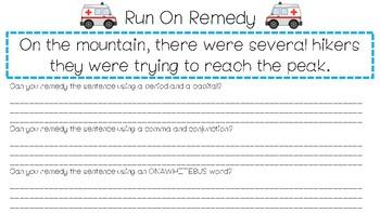 Subject Predicate Run On Remedy